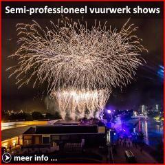 Xena Vuurwerk BV verzorgt elk jaar tientallen vuurwerkshows met semi professioneel vuurwerk op bruiloften, festivals en feesten