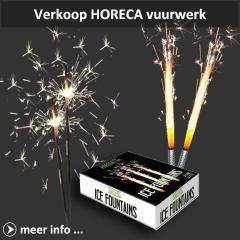 Xena Vuurwerk is tevens leverancier van HorecaFX horeca vuurwerk met ondermeer sterretjes en indoor ijsfonteinen