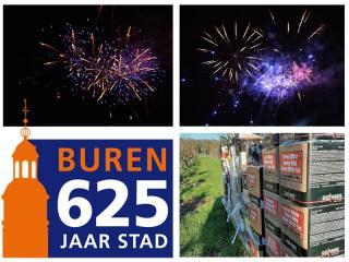 Xena Vuurwerk heeft op 6 januari 2020 een vuurwerkshow mogen verzorgen voor de Gemeente Buren ter gelegenheid van het 625 jarig jubileum