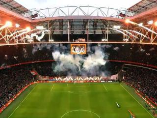 Vuurwerkshow voorafgaand aan Ajax - PSV in de Johan Cruijff ArenA op zondag 2 februari 2020. Uitgevoerd door Xena Vuurwerk BV