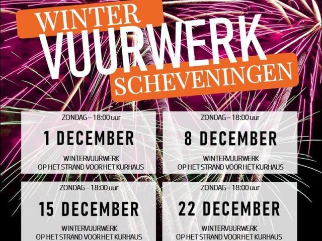 Xena Vuurwerk zal ook in 2019 weer de vuurwerkshows verzorgen tijdens de 'wintervuurwerken' op het strand van Scheveningen