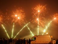 Xena Vuurwerk voert de winter vuurwerkshows uit op het strand van Scheveningen in december met semi professioneel vuurwerk en pse