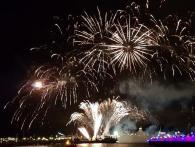 De vuurwerkshow bij de vestingdagen in Hellevoetsluis wordt uitgevoerd door Xena Vuurwerk