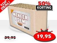 De Meneer Boem cakebox is nu in de aanbieding online te bestellen voor slechts € 19,95 bij Xena Vuurwerk in Ede